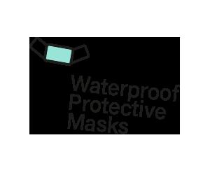 Waterproof protective masks